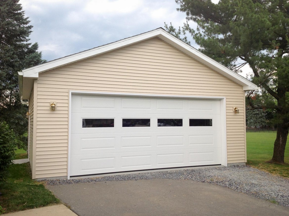 2 car garage door 2 car with hip roof and custom garage for Two door garage