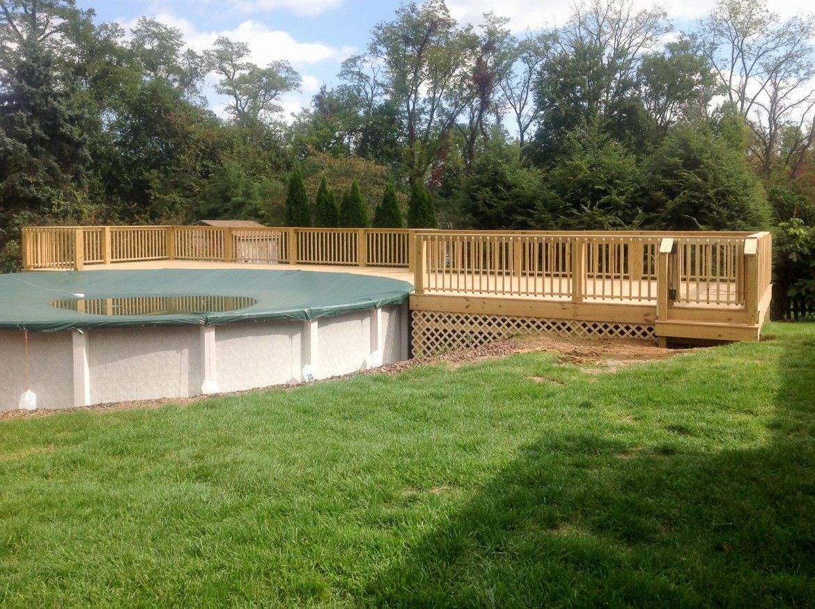 New Deck Around Pool