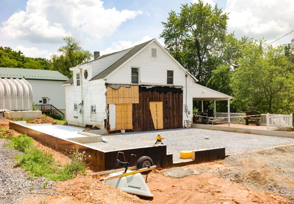 Before a Major home addition