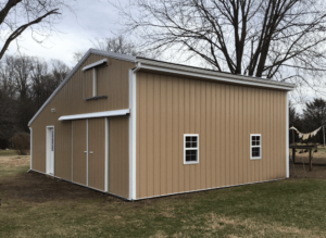 New siding on a barn